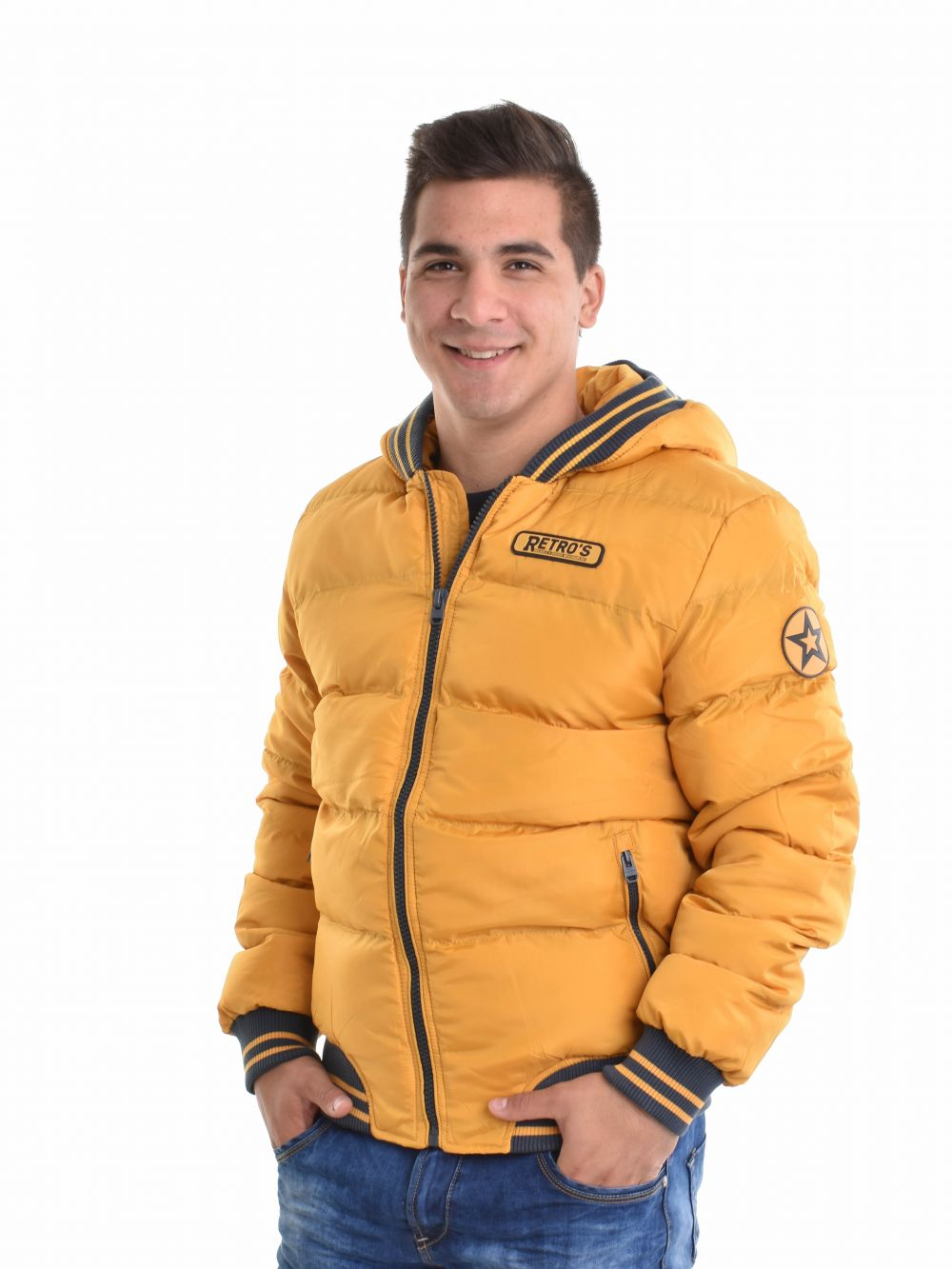 retro jeans férfi kabát