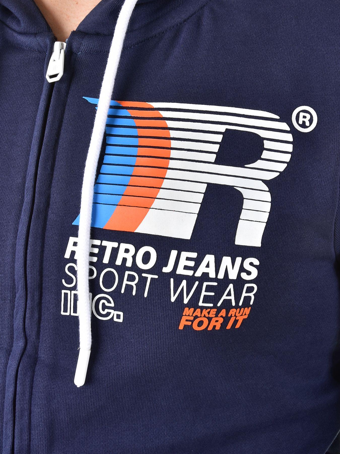 Retro Jeans férfi kapucnis pulóver PREM ZIP   Markasbolt.hu