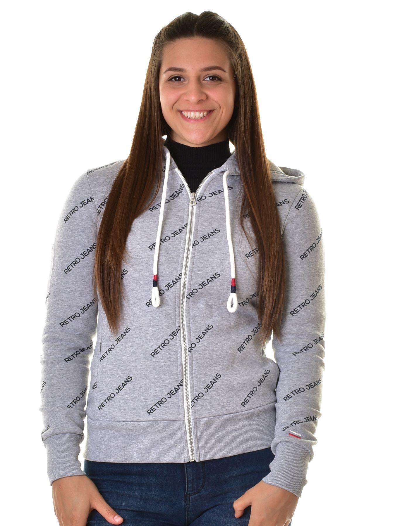 Retro Jeans női zippes kapucnis pulóver ENRICA | Markasbolt