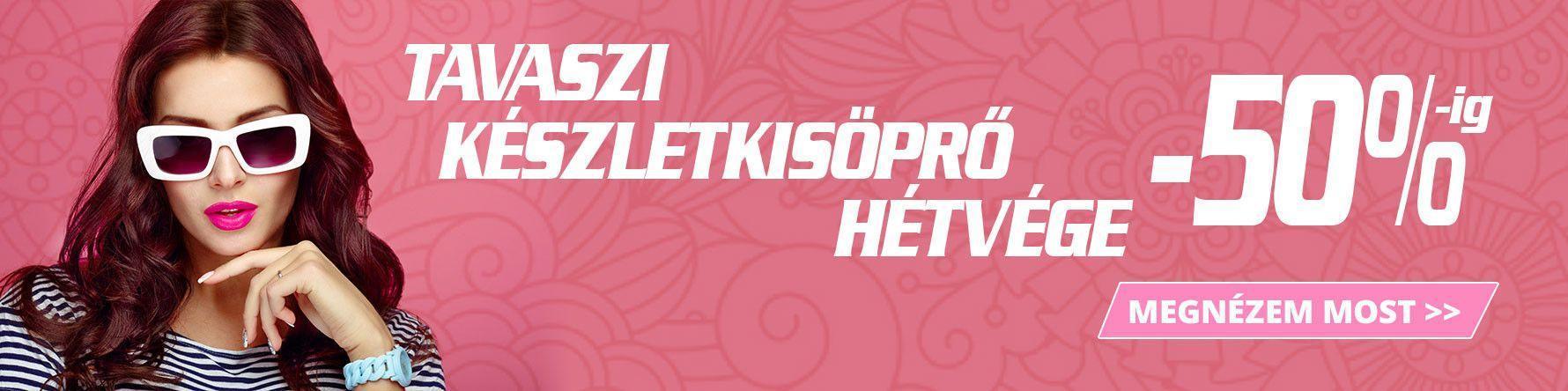 TAVASZI KÉSZLETKISÖPRŐ HÉTVÉGE!